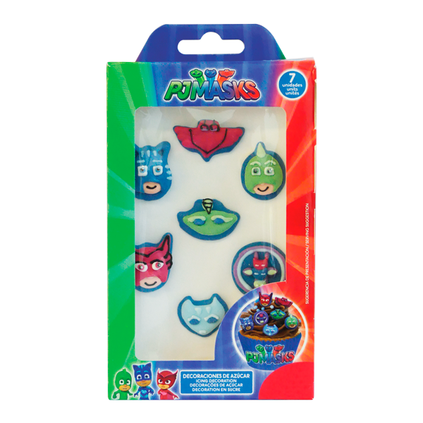 Zuckerdekor pj masks essbare deko f r cupcakes torten for Kuche dekoration shop