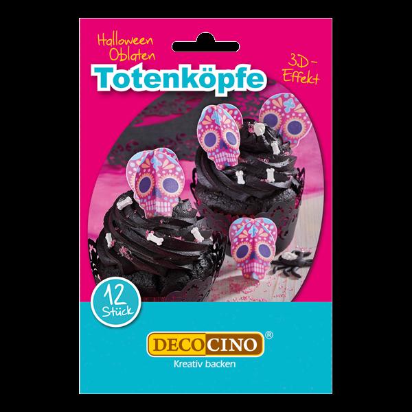 Halloween Oblaten Totenköpfe